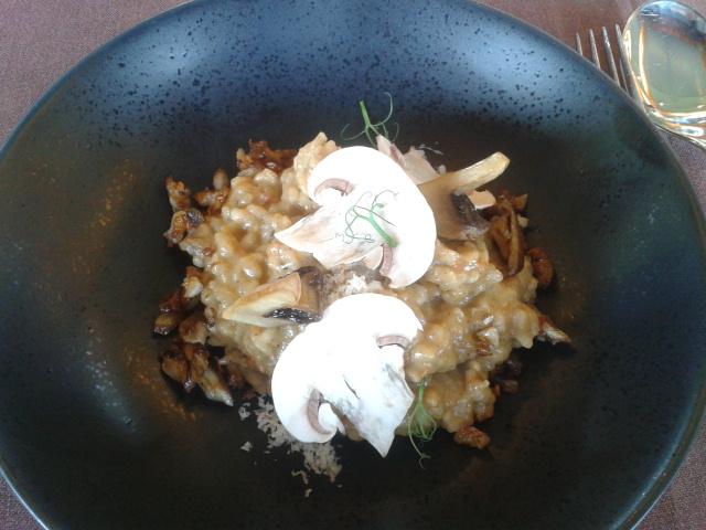 Restaurante en Larrabetzu Arroz meloso de champis