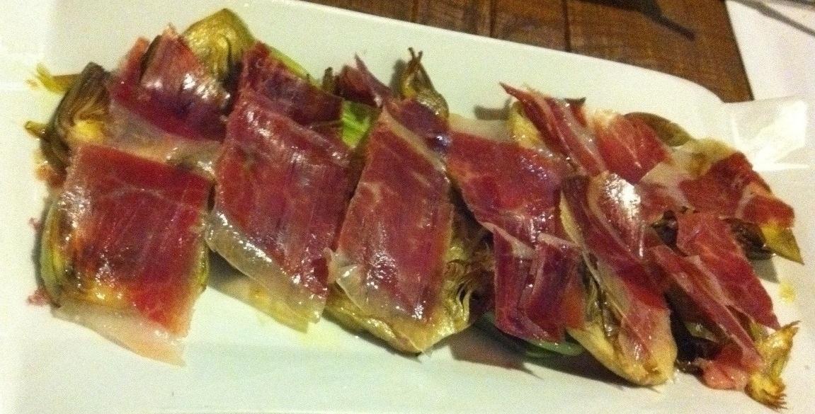 Restaurante Taberna Comer, Beber, Amar (Valencia) Alcachofas con Jamón
