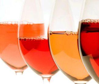 Colores vino rosado logo