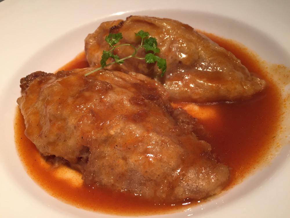 Restaurante El Riojano (Cantabria) Pimientos rellenos de carne