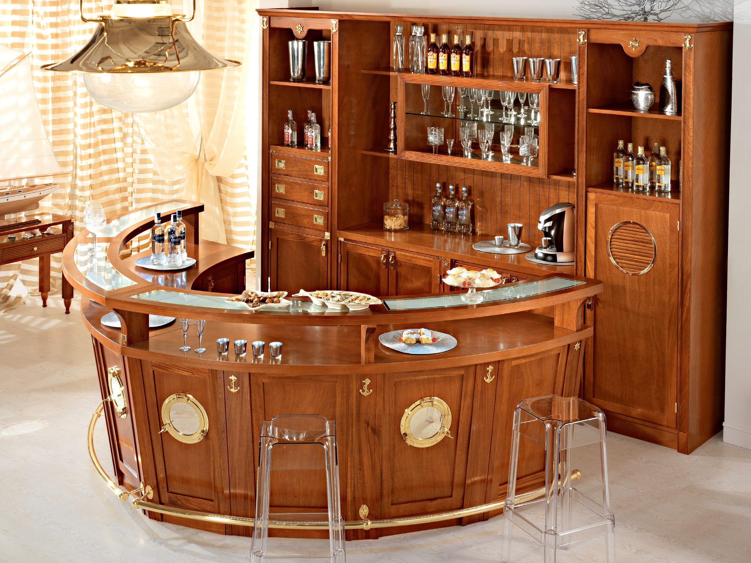 El mueble bar perfecto for Bar modelos madera