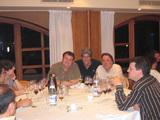 Durante la cena de sobaquillo en el encuentro anterior