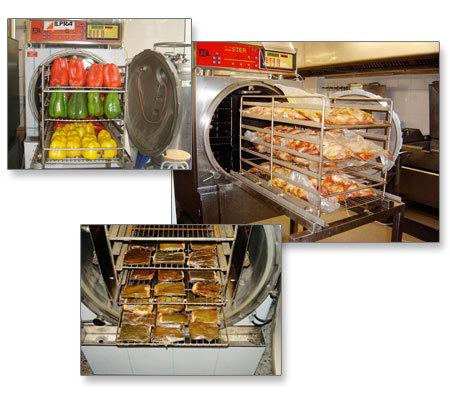 Mesa de trabajo alta cocina en el supermercado o el - Cocina quinta gama ...