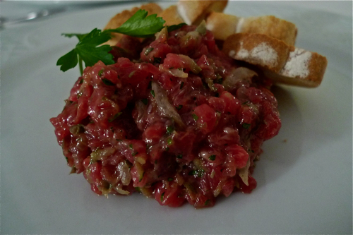 Restaurante Vaixell Restaurant steak tartare