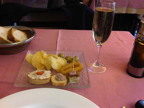 Restaurante La Muga (Girona) Aperitivo