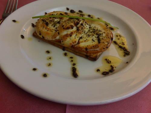 La Muga (Girona) Tosta de queso de cabra