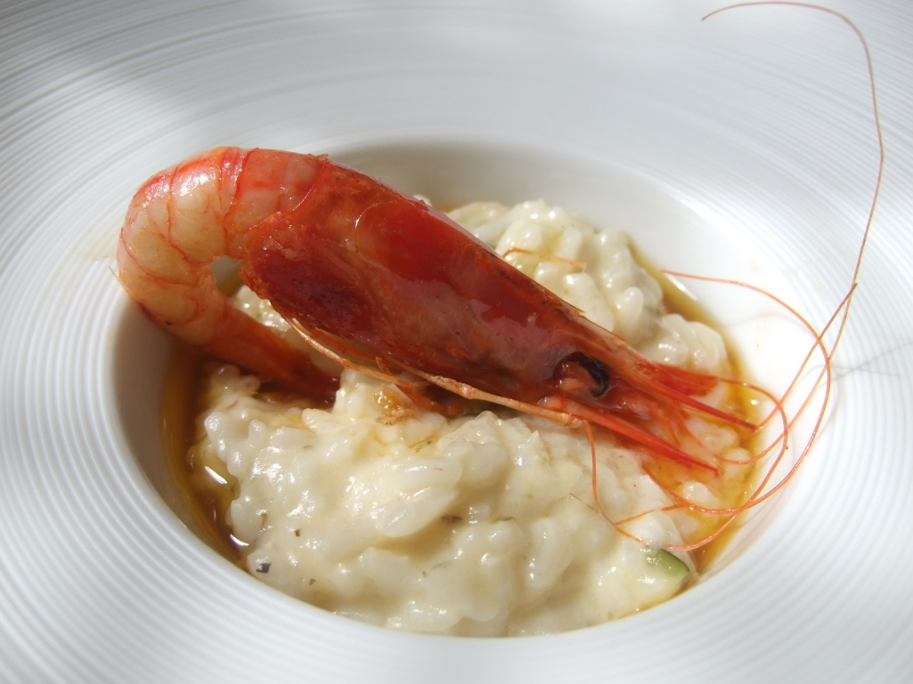 Restaurante en Valladolid Rissotto con gamba roja