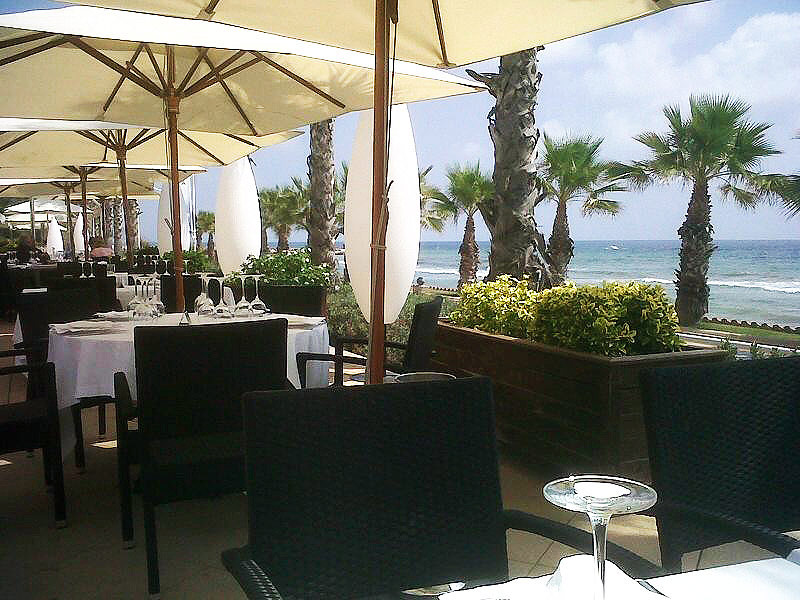 Restaurante Acqua Sitges Terraza frente al mar