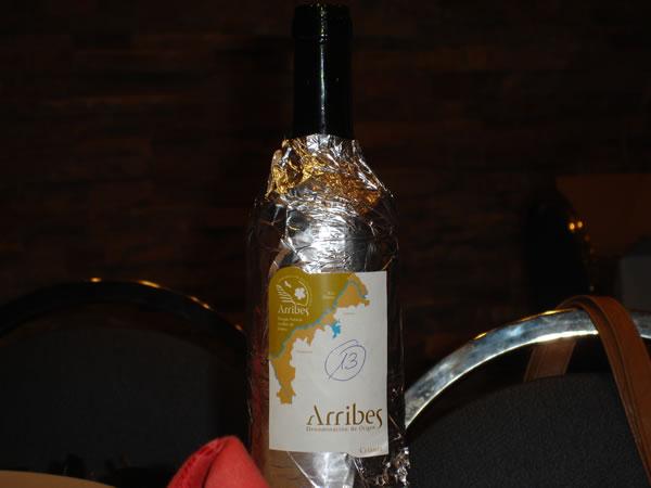 vino de Arrbes en la calificacion de añada 2009