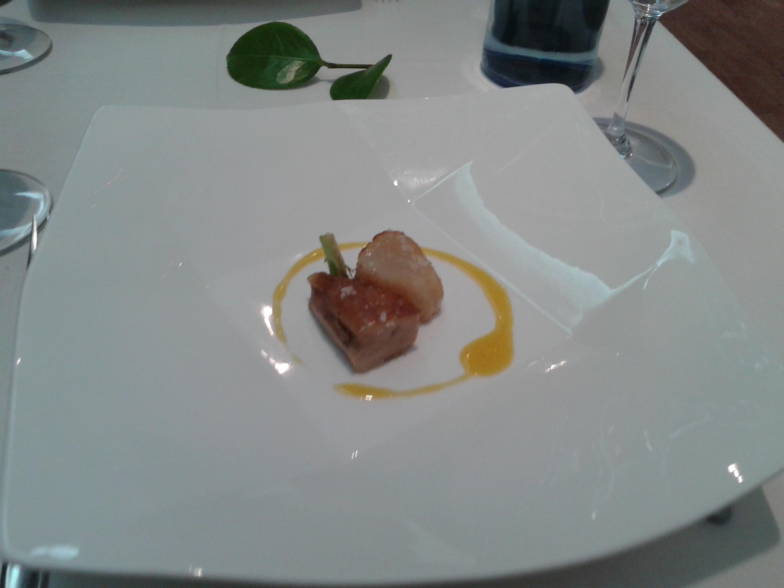 Restaurante en Vigo Vieira con tocino confitado