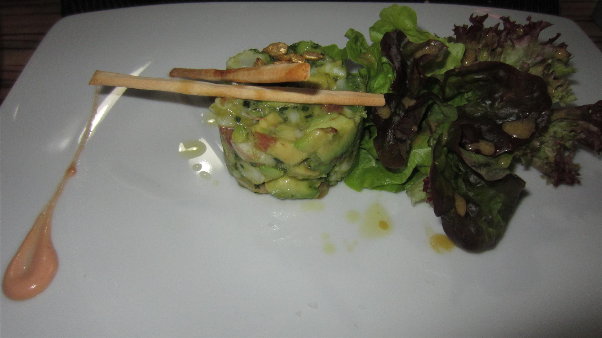 Restaurante Alejandro del Toro Prawns and avocado