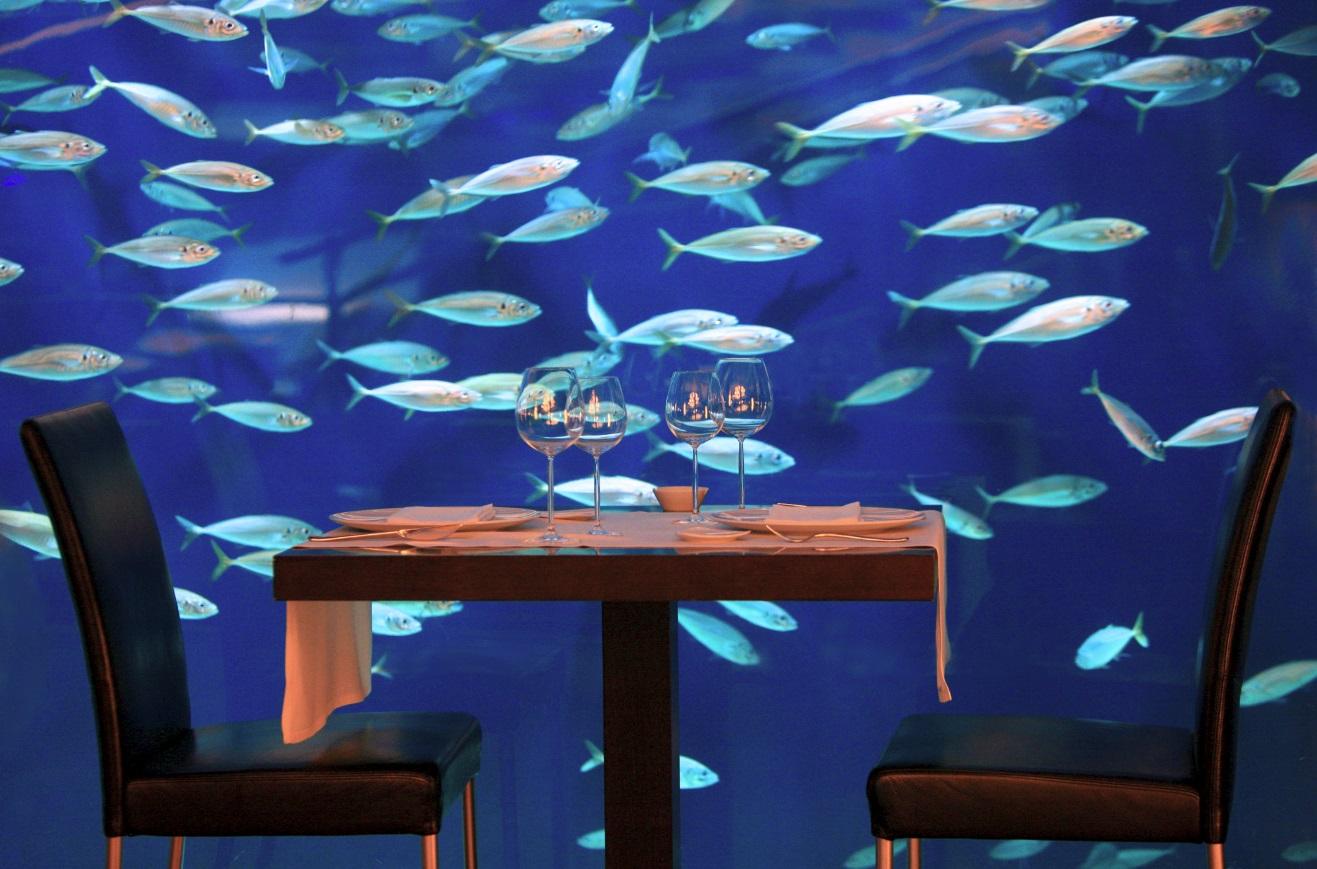 Restaurante Submarino Oceanogràfic (Valencia) Interior Rte. Submarino acuario