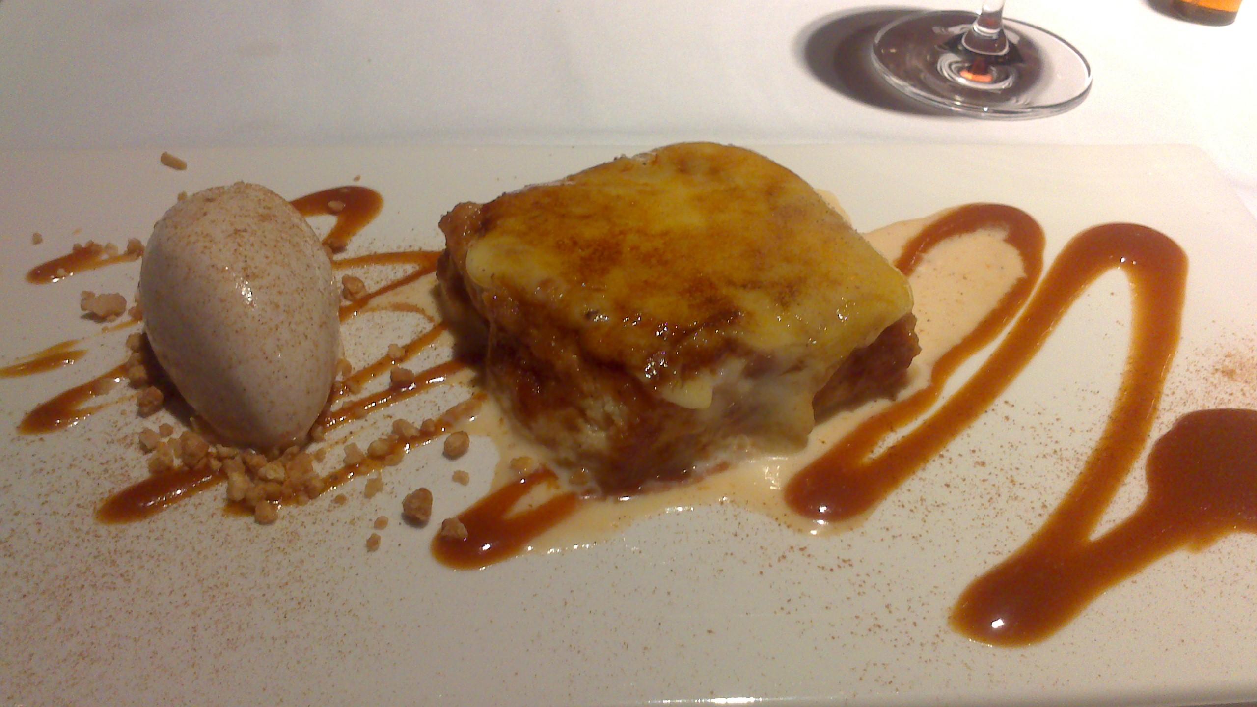 Restaurante en Bilbao Torrija y helado de arroz con leche