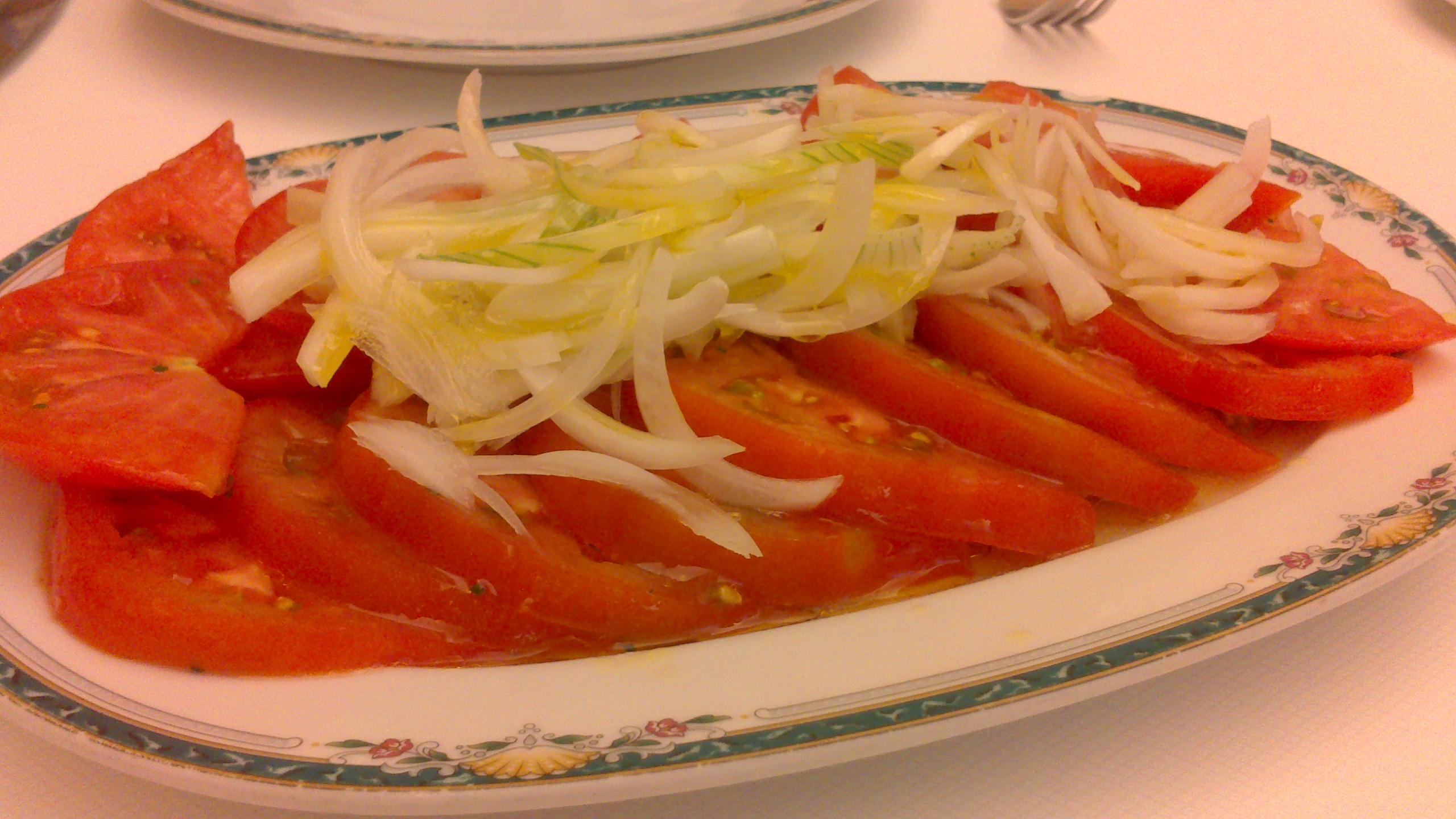 Restaurante Restaurante Trueba (Vizcaya/Bizkaia) Ensalada de tomate