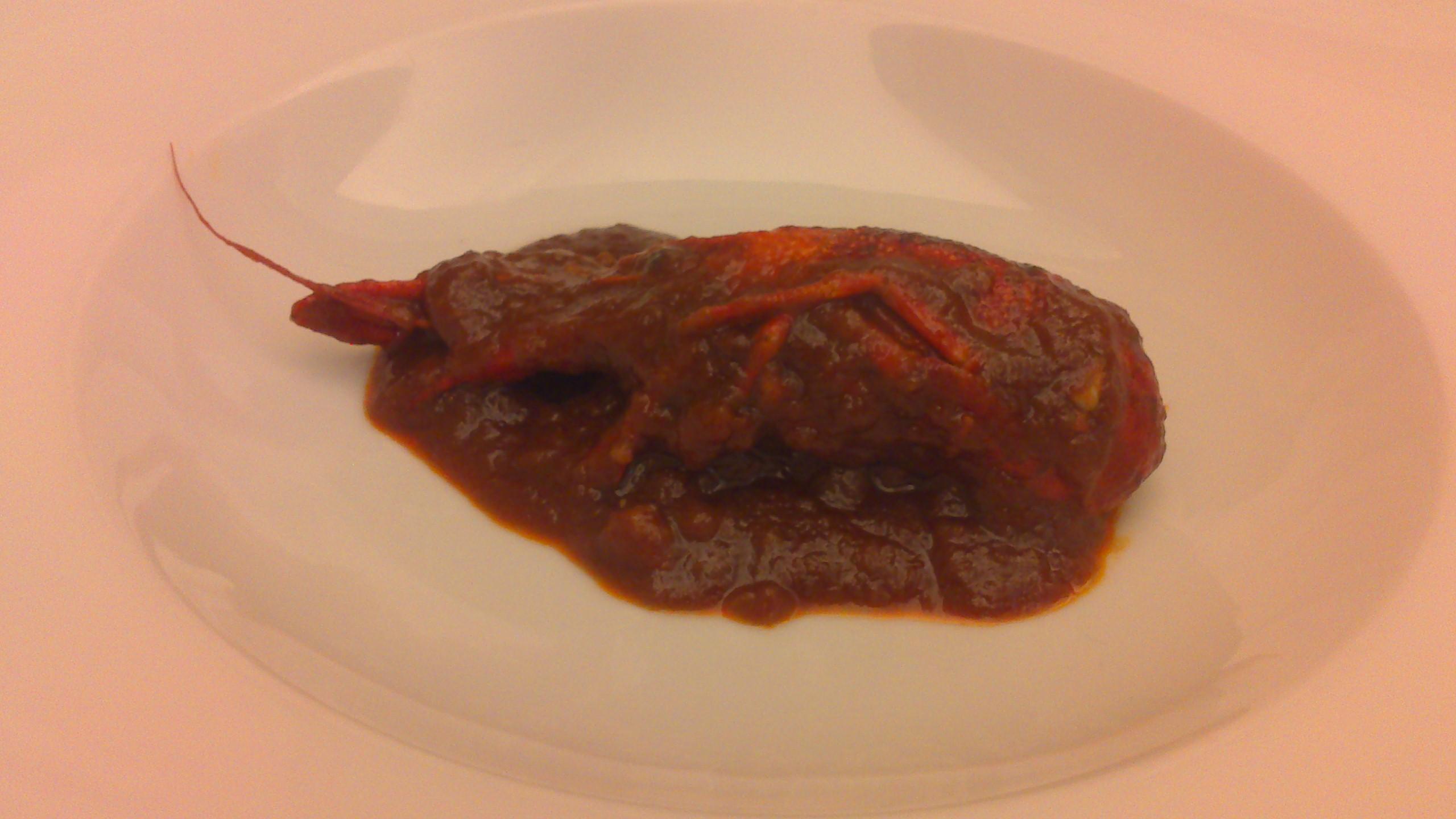 Restaurante Trueba (Vizcaya/Bizkaia) en Bilbao Cangrejo en salsa bizkaina
