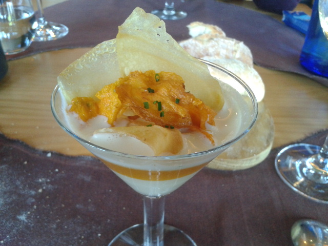 Restaurante Azurmendi (Vizcaya/Bizkaia) Irlandés de patata, calabaza y queso