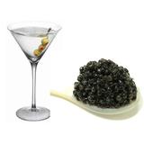 Dry martini con caviar col
