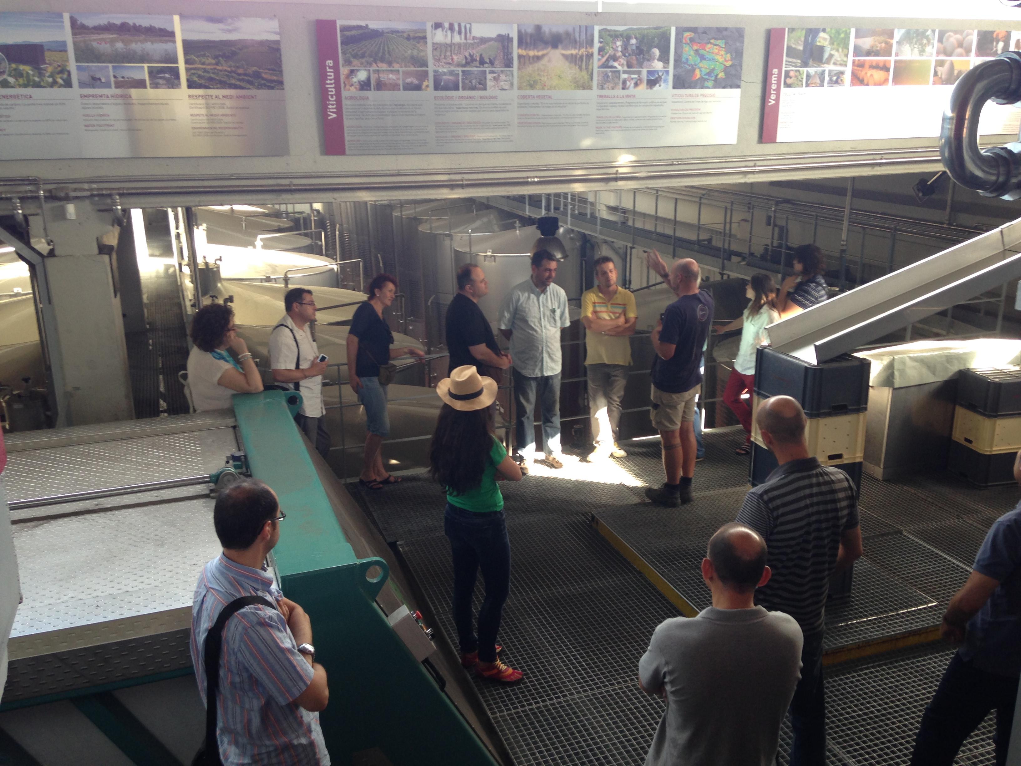 Visita a Gramona en el Encuentro de Foreros Verema en el Penedés
