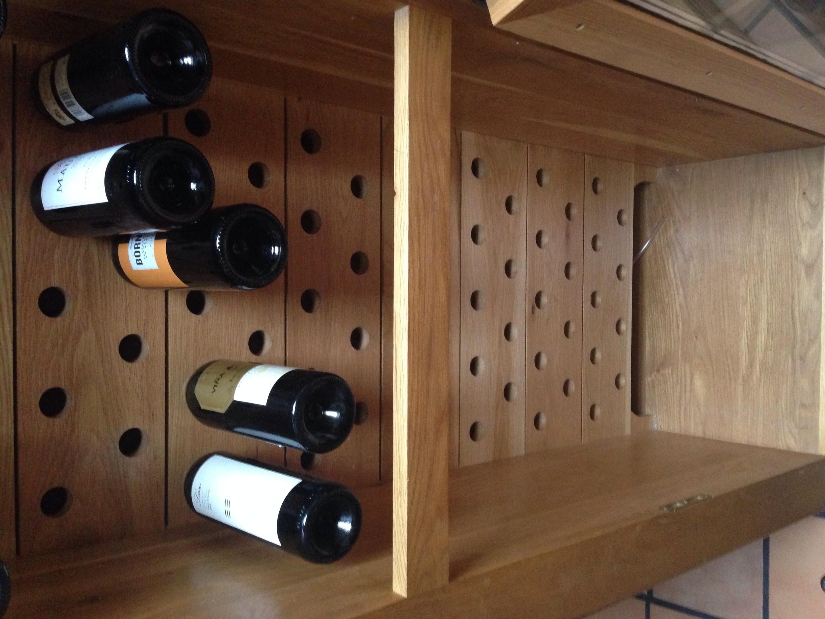 vinoteca madera de roble