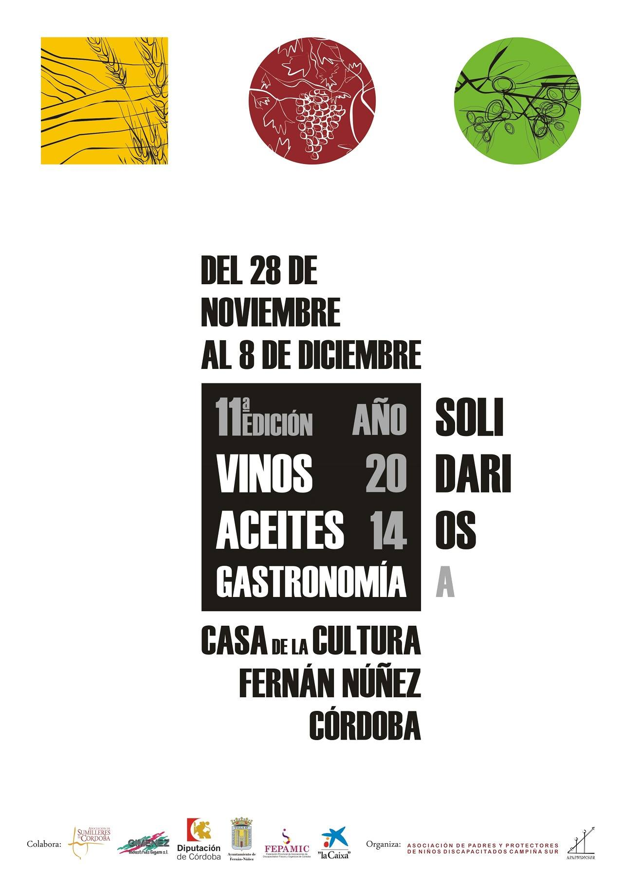 XI Edición Salón del Vino, Aceite y Gastronomía Solidarios: cartel