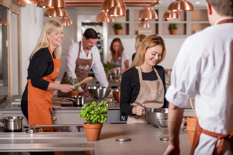 Cookery class at The Kitchen | Cookery School | Team Building