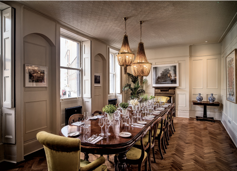 WHITE ROOM | The Harcourt | Private dining rooms in Marylebone | Venue Finding