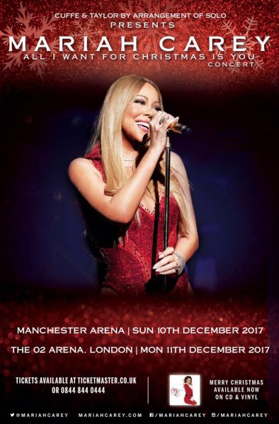 20 artist tour predictions | Mariah Carey UK tour | Mariah Carey All I Want For Christmas Is You Tour | Mariah Carey Manchester Arena | Manchester Arena suite | Mariah Carey hospitality | Mariah Carey VIP tickets | Corporate Hospitality