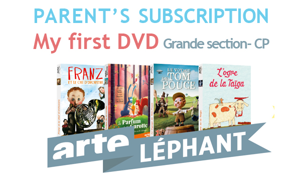 1 PARENT's subscription - My first DVD - ARTElephant - 2016/2017