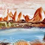 Jezero-v-poušti-Enkaustika 0