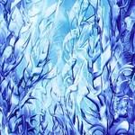 Modrý-les-Enkaustika 0