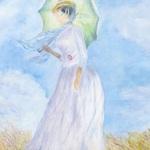 dama-se-slunecnikem---detail 0
