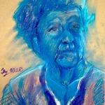 V-modrém 0