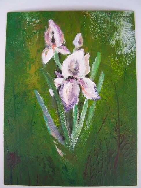 Enkaustika---květiny