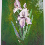 Enkaustika - květiny