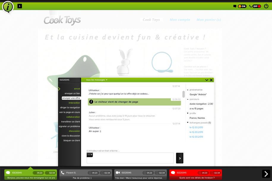 Mirroring iAdvize : outil d'analyse ergonomique de site web