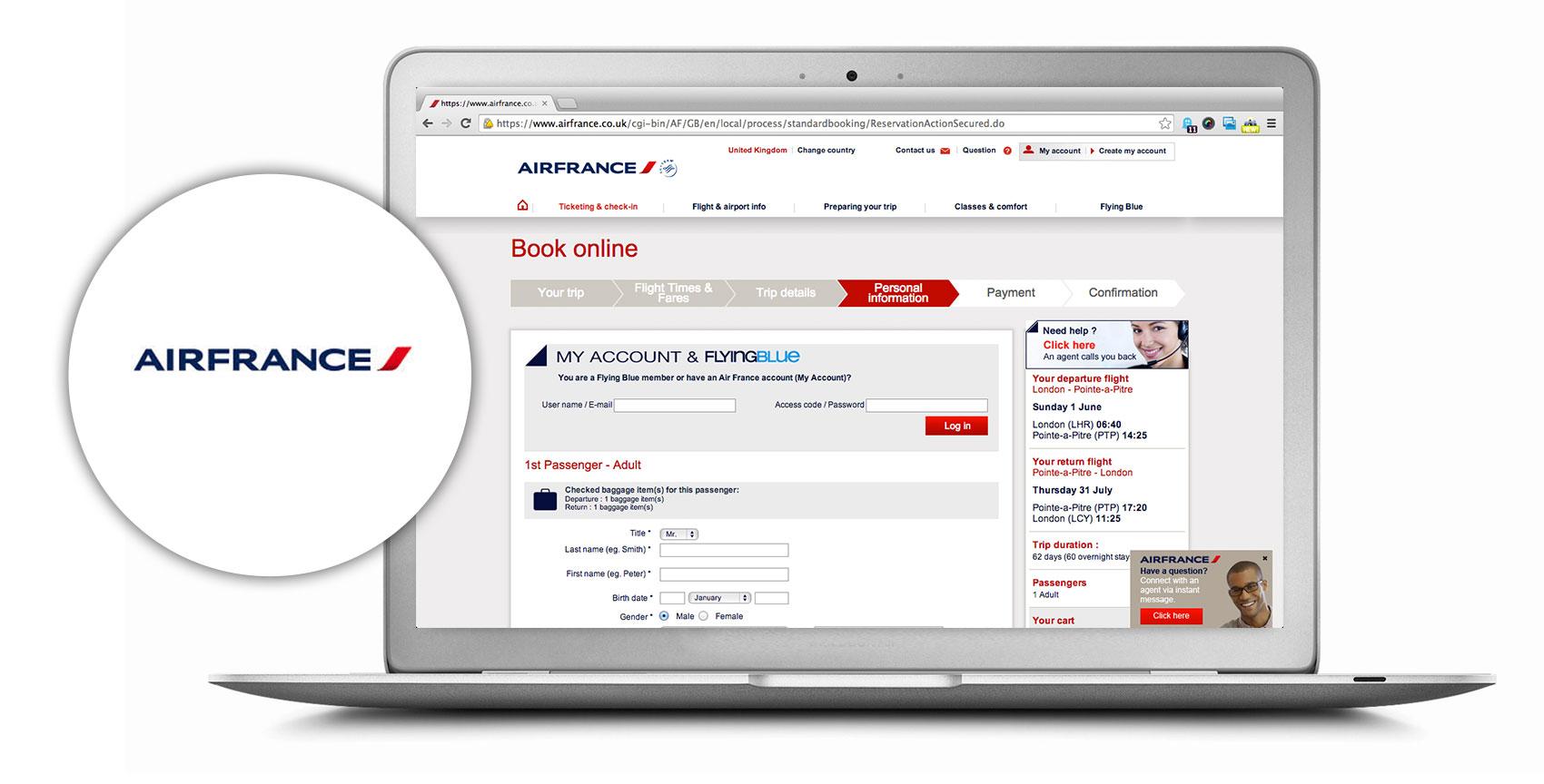 AirFrance ordinateur