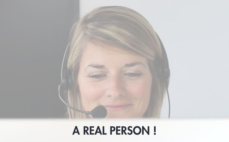 Online shoppers want to speak to a real person!