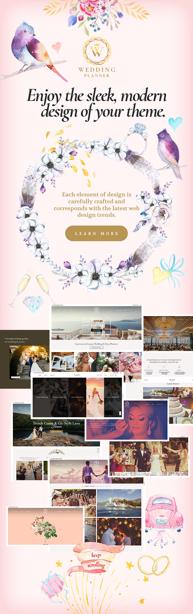 Wedding Planner - Responsive WordPress Theme - 3