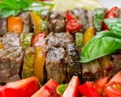Ostrich Steak Kebabs