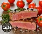 2 x 6-7oz Wild Venison Haunch Steaks