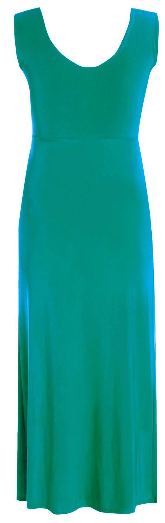 NEU Damen Übergröße Knoten vorne Paneel lang Abend Maxi Kleid