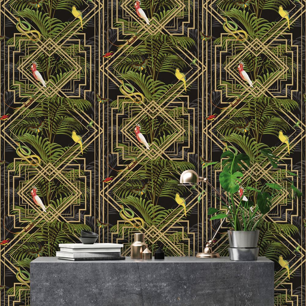 Arbres /& Feuilles Papier Peint Exotique Fleurs Tropical Palmier Feuilles Glamour