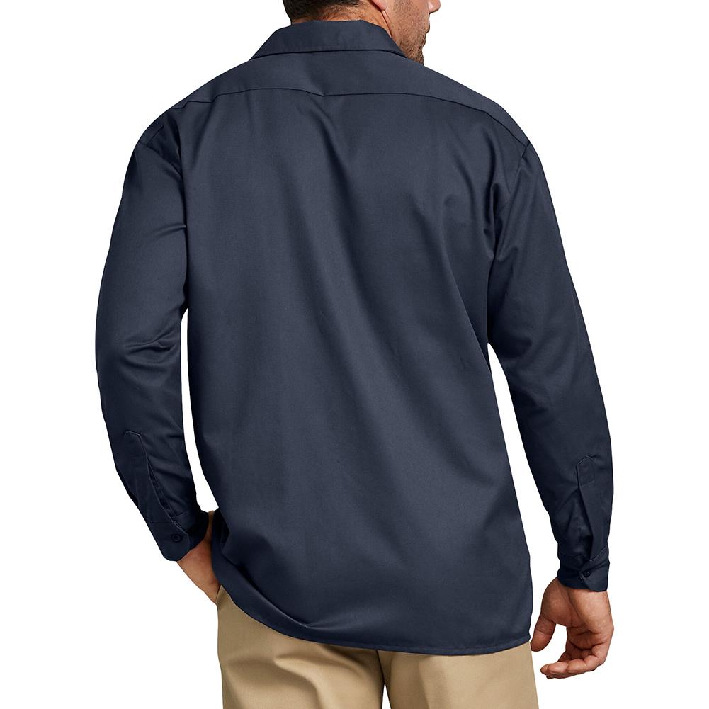 Dickies Hombre 574 Mangas Largas Camisa de trabajo uniforme tradicional botón frontal