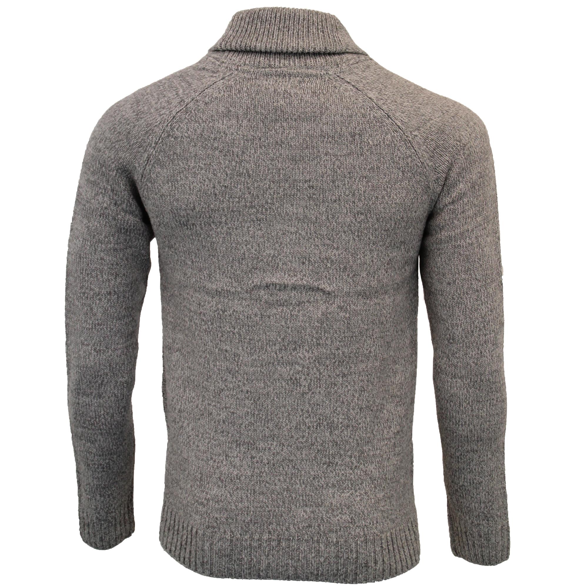 Mens Wool Mix Cardigans Threadbare Knitted Sweater Broken Standard Shawl Winter