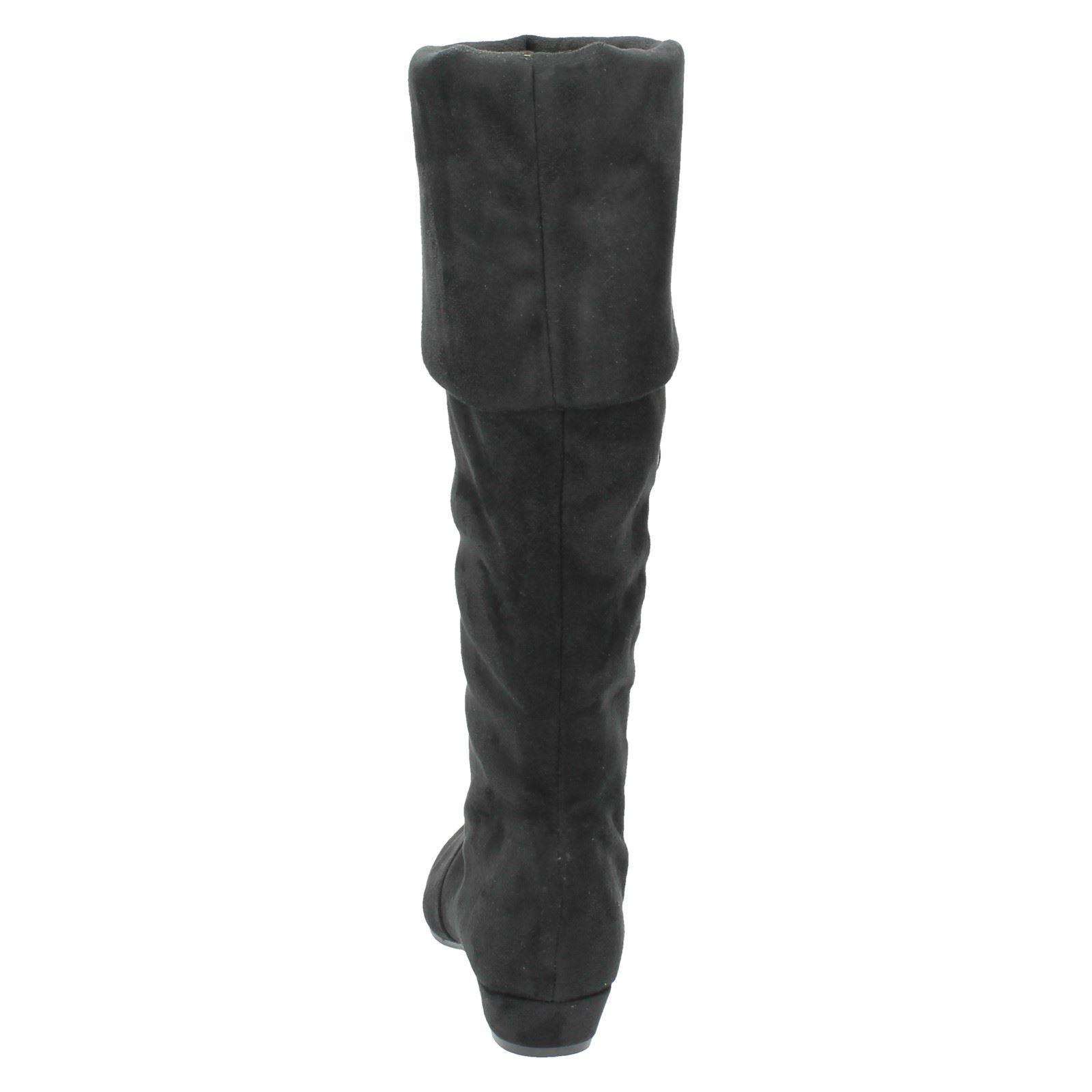 Damen Spot On Mittelhoch Hohes Bein Stiefel