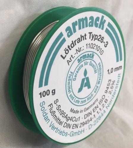 lötdrähte Armack solder typ26-3 sn95ag4cu1 sn95, 5ag3, 8cu0, 7