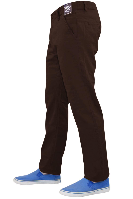 New Mens Designer Kushiro Slim Fit Twill Chino Straight Leg Trousers Cotton Pant