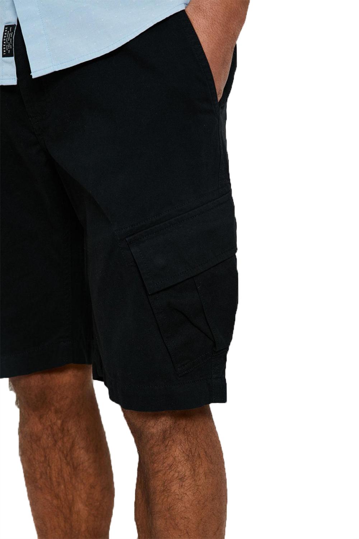 Threadbare Herren König Designer Baumwolle Twill Cargo Shorts Viele Taschen Hose