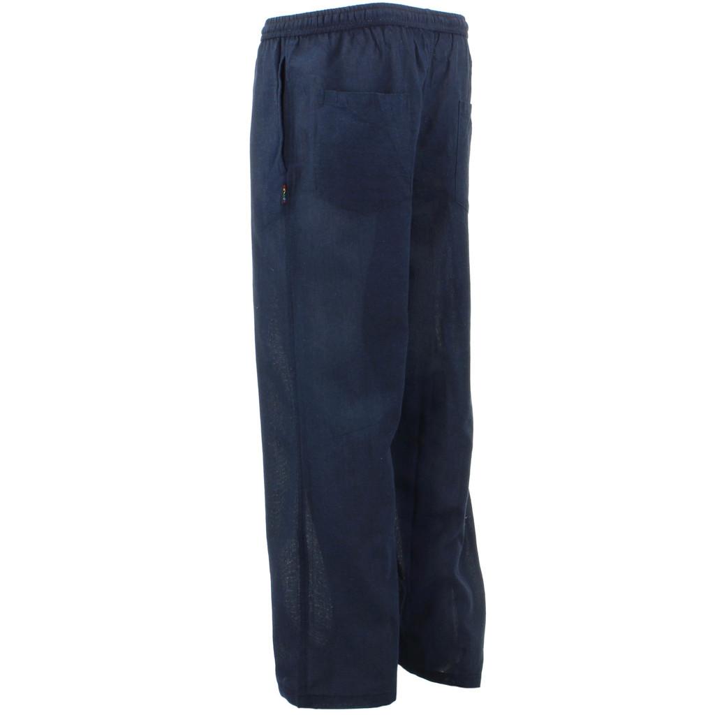 Nepalese Cotton Trousers Pants Plain Gringo Loose Light Hippy Elastic Baggy