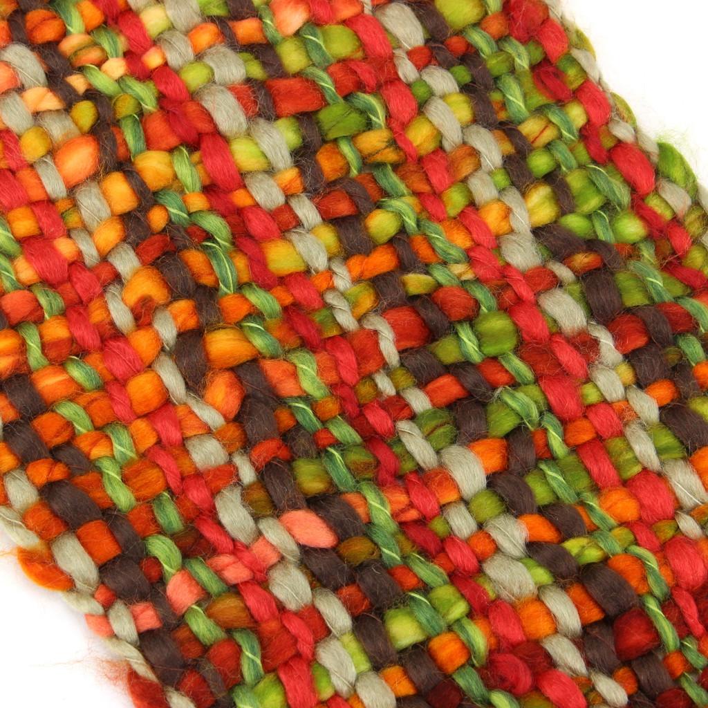 Scarf Acrylic Knit Chunky Tassels Long Knitted Warm Winter Colourful Shawl